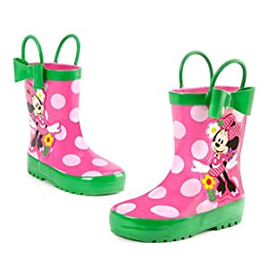 Authentic Disney Store - Minnie Mouse Pink Rain Boots / wellies ...