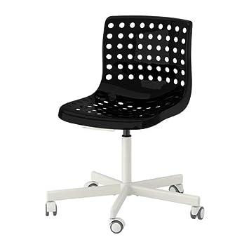 Ikea SKALBERG/Silla giratoria, Negro, Blanco - SPORREN ...