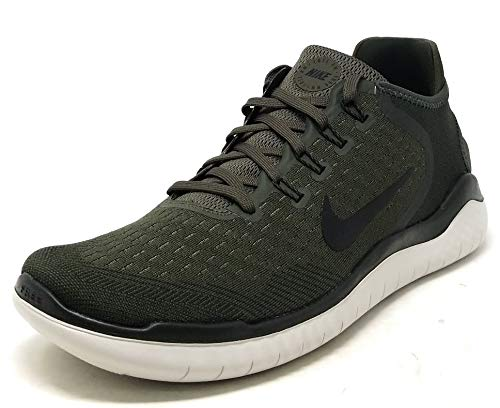 NIKE Free RN 2018 Mens Running Trainers 942836 Sneakers Shoes (UK 9 US 10 EU 44, Cargo Khaki Black 300)