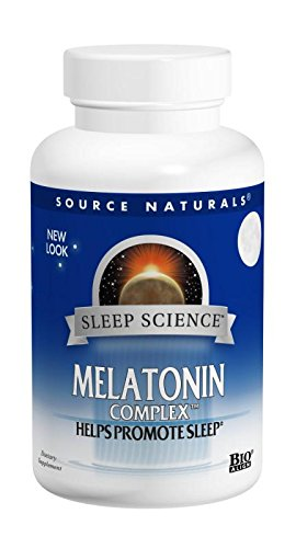 Source Naturals Sleep Science Melatonin Complex 3mg Peppermint With GABA, B-6 & More
