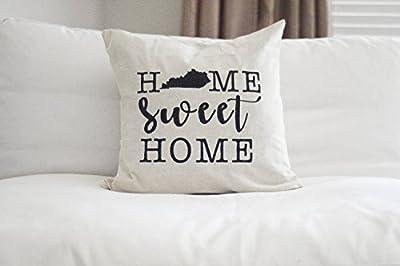 Georgia Barnard Home Sweet Home Throw Pillow Cover Kentucky Pillow Cover Home Sweet Home My Old Kentucky Home My Old Ky Home Kentucky Pillow Cover Square Cushion Case 18 x 18 Inch
