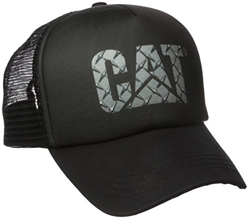 Caterpillar Men's Custom Logo Cap, Diamond Plate, One Size