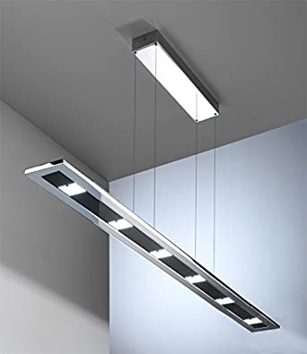 Pendelleuchte Led Design-Line mit Touch Dimmer 6x 6W chrom: Amazon ...
