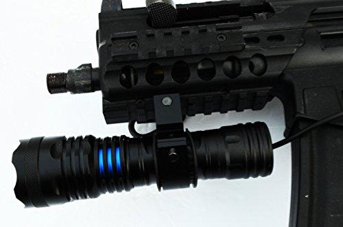 AcidTactical 1000 Lumen T6 CREE LED Gun Shotgun Rifle Flashlight, Rail Mount, Pressure Switch by AcidTactical