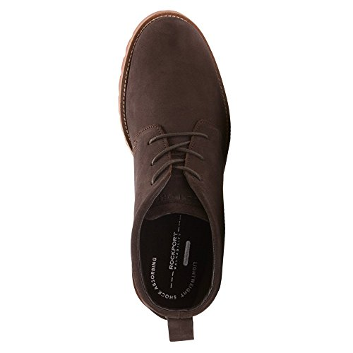 Rockport Mens Channer Oxford Scuro Cioccolato Amaro / Mattone