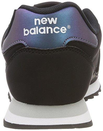 Noir Baskets New Balance white irredescent 500 Kir black Femme ZIwA7qI