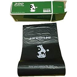 PoopBags PBBLKRL01 Commercial Bulk Rolls Poop Bags, Large, Black