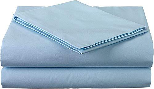 RV Mattress Short Queen Sheet Set - (60x75) 400 Thread Count Egyptian Cotton -Made Specifically for RV, Camper & Motorhomes (Short Queen) (Light Blue Solid)