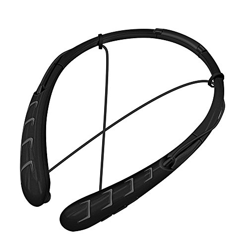 Bengoo Wireless Bluetooth Headphones Universal Headset Earbuds Earphones With Mic For Apple iPhone 6s iPad iPod Samsung Android Smart Phones And Other Bluetooth Device-Black