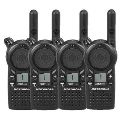 4 Pack of Motorola CLS1110 Two Way Radio Walkie Talkies (UHF): Car Electronics