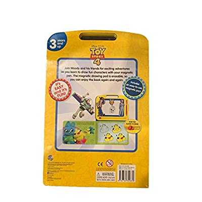 Disney Learning Etch Magnetic Board and Book Combo w/ 22 Page Story Book & Magnetic Drawing Kit, 3 Years and Up, Its Easy and Fun Toy Story 4 Learn to Draw: Toys & Games