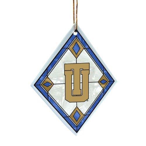(NCAA Tulsa Golden Hurricane Art Glass Ornament)