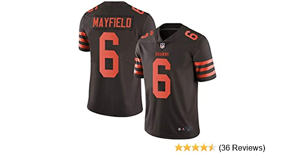 pretty nice 21b42 691ec Men's Cleveland Browns #6 Baker Mayfield Brown Embroidered Name & Number  Jersey