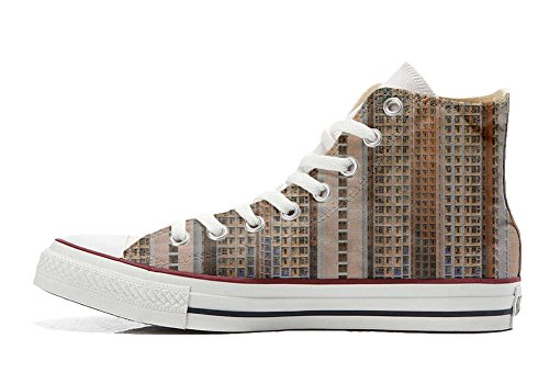 Converse All Star Hi chaussures coutume mixte adulte (produit artisanal) Architecture Of Density