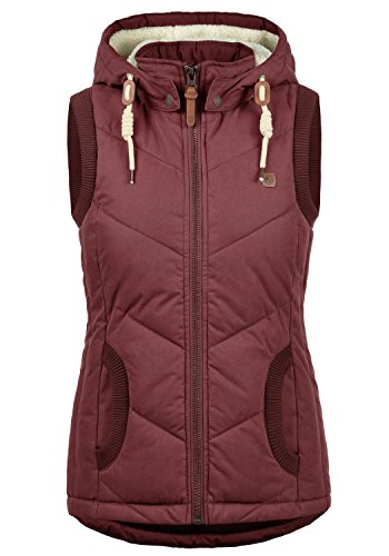 Hood Vest Warmer 0985 Body with Desires Women's Lore Gilet Wine Red Quilted wYIxSgZ8q