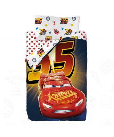 10XDIEZ Funda DE Saco Ajustable Cars Racing - Medidas Sacos Nórdicos Infantiles - Cama 90cm