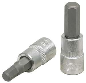 """KS Tools 911.1436 - Punta de destornillador hexagonal (TX, T10, 1/4"""", 3 mm)"""