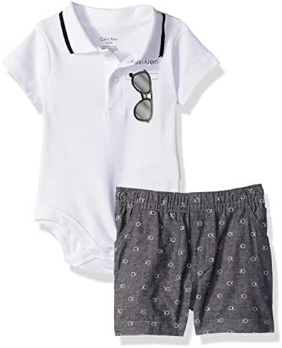 Calvin Klein Baby Boys' 2 Pieces Set-Plaid Shorts