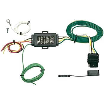 amazon com hopkins 43105 plug in simple vehicle wiring kit hopkins 48925 tail light converter 4 wire flat extension