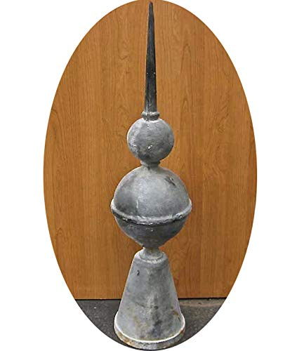 Garden Finial lighting rod - 95cm -Reproduction -Architectural - Cast iron