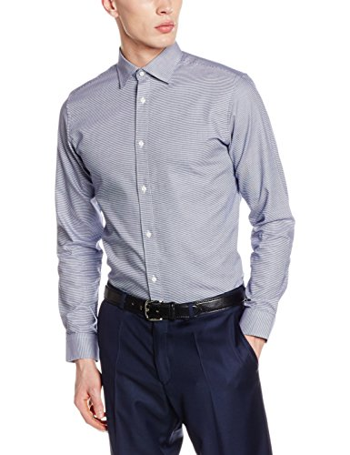 SELECTED HOMME Shdtwotim-Luca Shirt Ls Noos, Camisa para Hombre Blanco (White)