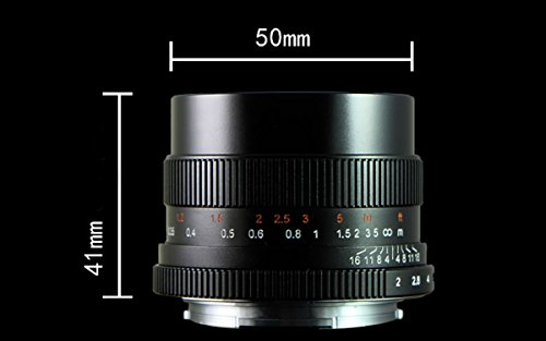 Black 7artisans 25mm F1.8 APS-C Manual Focus Lens for Sony Emount Cameras Like A7 A7II A7R A7RII A7S A7SII A6500 A6300 A6000 A5100 A5000 EX-3 NEX-3N NEX-3R NEX-F3K NEX-5 NEX-5N