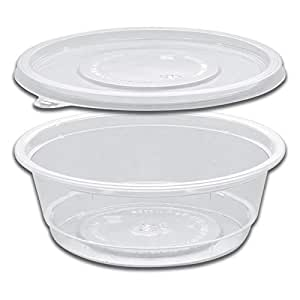 Clear Round Container w/Flat Base 100cc + Lid x 1000pcs