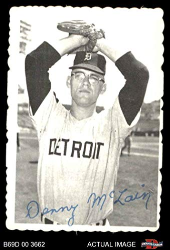 1969 Topps Deckle Edge # 8 Denny McLain Detroit Tigers (Baseball Card) Dean's Cards 5 - EX Tigers