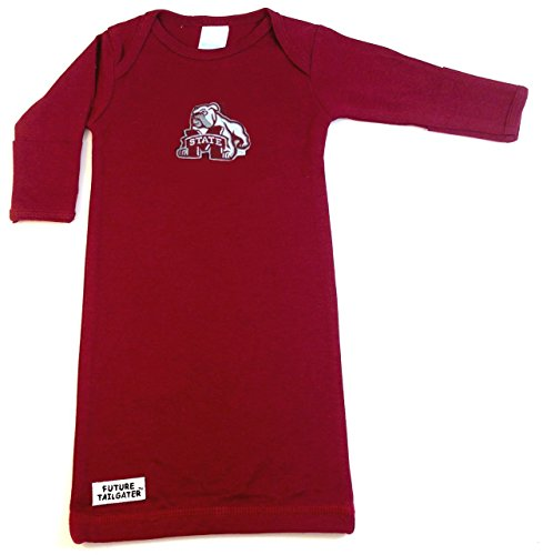 Future Tailgater Mississippi State Bulldogs Baby Layette Gown