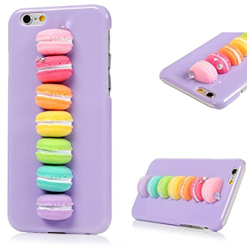 iPhone6S Plus Cookie Shell, Newstars 3D Cool Attractive Vivid France Macaron Cake (France Dessert)