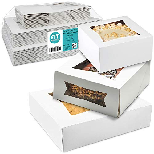 [36 Pack] Bakery Box with Window 6