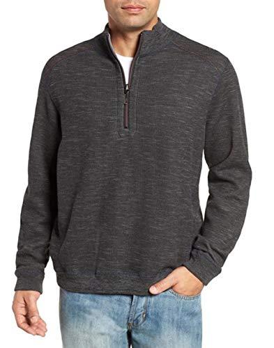 Tommy Bahama Reversible Sweatshirt - Tommy Bahama Men's Flipsider Reversible Half-Zip Sweatshirt - Meteor Grey HTHR
