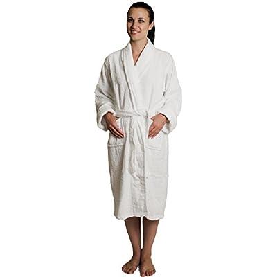 NDK New York Women's and Men's Terry Cloth Bath Robe 100% Cotton