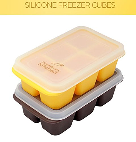 Baby food container set Baby Food Silicone Freezer Tray ECO Corn starch fermentation by MOTHER,S CORN (Image #5)