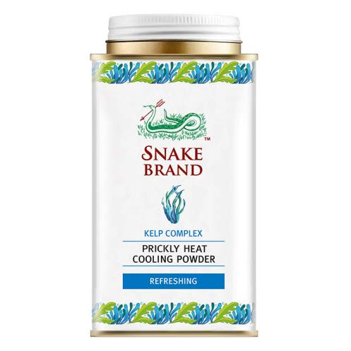 Snake Brand Prickly Heat Cooling Powder Refreshing 140 g. (10 Pack) by Snake Brand