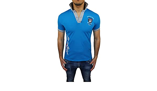 Polo Camiseta Hombre Athletic Star Club Azul Casual Slim Fit ...