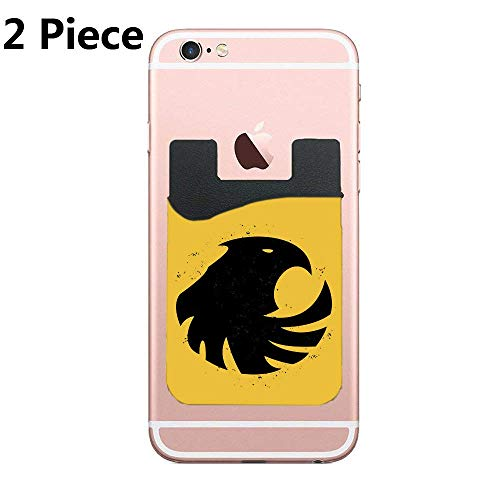 - Cusomcardphone Phone Card Holder Adhesive Stick-on Credit Card Wallet Phone Case Pouch Sleeve Pocket for Most of Smartphones(iPhone/Android/Samsung Galaxy) - (Black Canary 2pc)