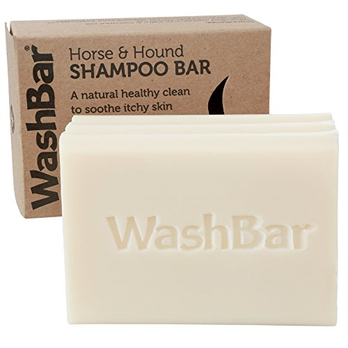 WashBar 100% Natural Horse Shampoo Bar - don't fight gravity, whiten and brighten coat, repair problem skin, naturally medicated, 6.5oz by WashBar