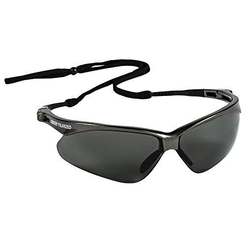 Jackson Safety V30 Nemesis Polarized Safety Glasses (28635), Polarized Smoke Lenses, Gunmetal Frame