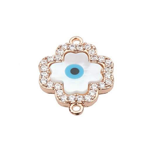 (Mikash 18K Colorful CZ Zircon Evil Eye Beads Fashion Bracelet Necklace Charm Pendant | Model BRCLT - 7949 |)