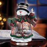 Thomas Kinkade Holiday Lights Snowman Figurine by The Bradford Editions
