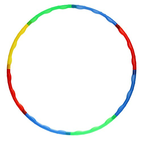 Gogoforward Portable Slot Together Hula Hoop Adjustable Adult Child Sports Aerobics R79 026