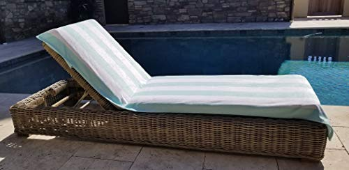 - Ipraia Fitted Cabana Style Chaise Lounge Cover with Flexible Spandex Hood, 29