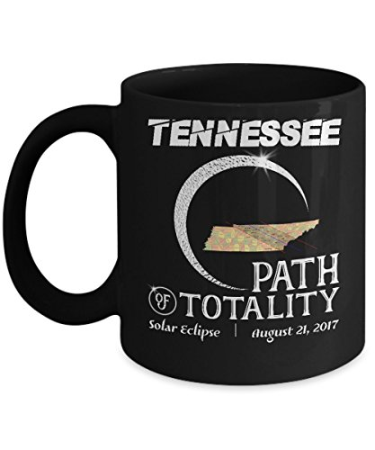 Total solar eclipse Mugs, Tennessee Path of totality 11 oz - 15 oz Ceramic Coffee mugs, Tea cups - Funny Gift for Family, Friend on August 08 21 - Eclipse Sunglasses For Solar Special