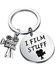 WSNANG Filmmaker Keychain I Film Stuff Movie Camera Charm for Film Student Director Movie Lover Gifts