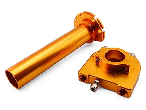 "Orange One Pcs Universal Motorcycle Aluminium 7/8""(22mm) Racing Throttle Handle Lever Parts Control Dirt Pit Bike Fit For Honda VTR1000 SP-2 2002-2006"