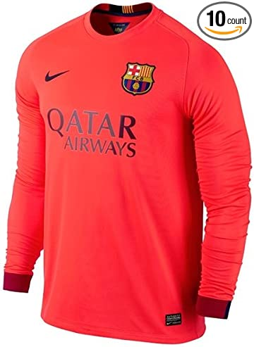 Amazon Com Barcelona 14 15 Ls Away Soccer Jersey Sports Outdoors