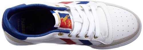 Hummel stadil low trainer para hombre Blanco (Weiss (WHITE/BLUE/RED 9228))