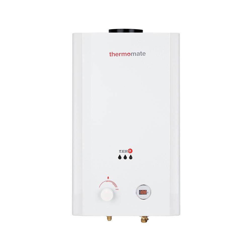 thermomate ZERO10 2.64 GPM Propane Tankeless Gas Water Heater for Outdoor, Low Pressure Startup, White