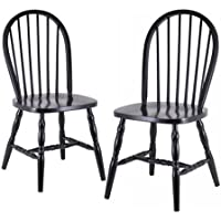 Windsor Chairs -2- Piece Set Black Finish